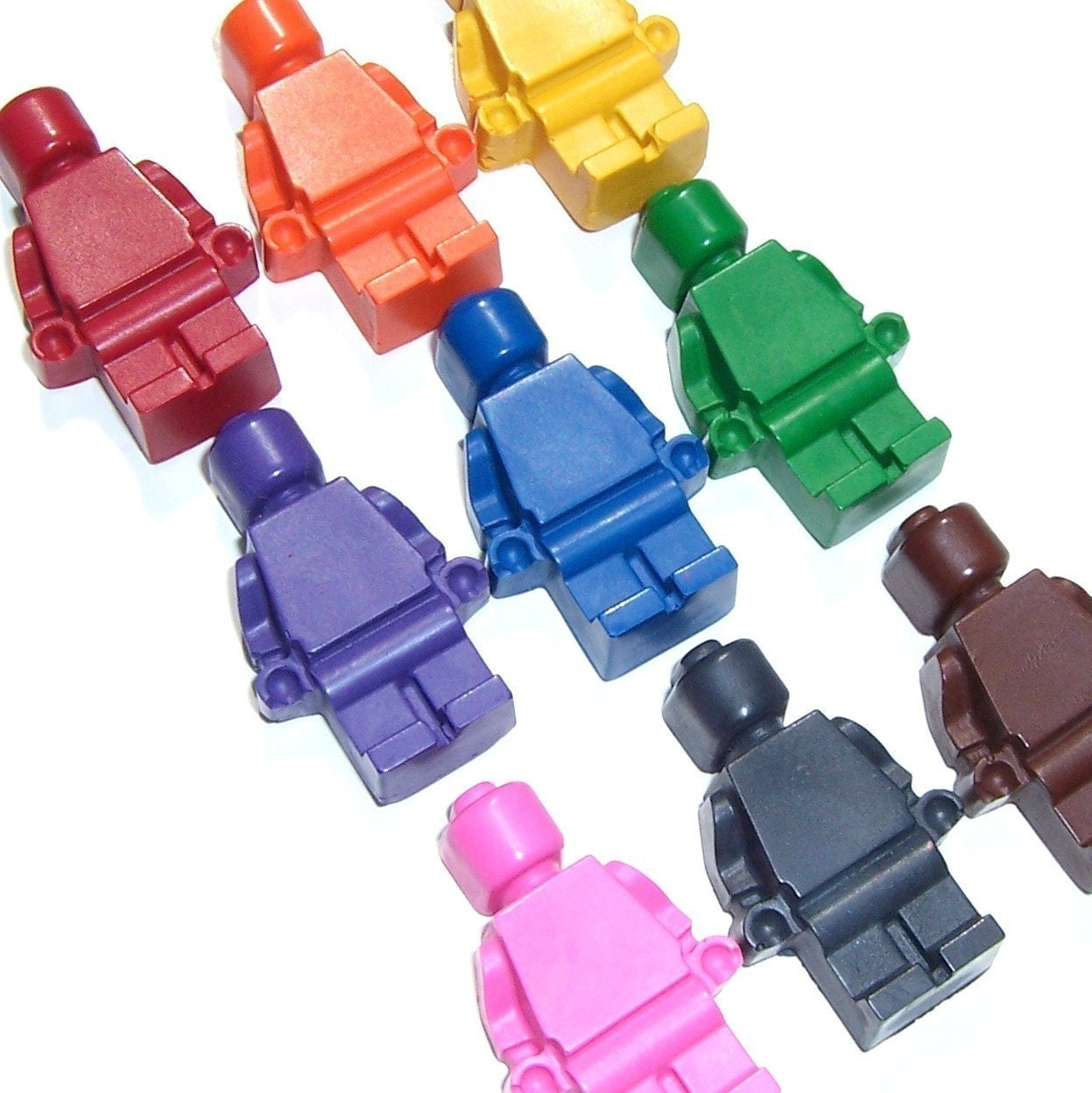 Mini Men Crayons - Lil Doodlers (tm) - Set of 9