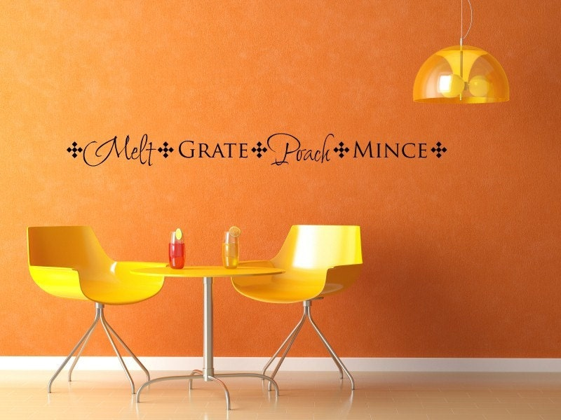 Melt Grate Poach Mince - Kitchen Border Vinyl Decal - 1415