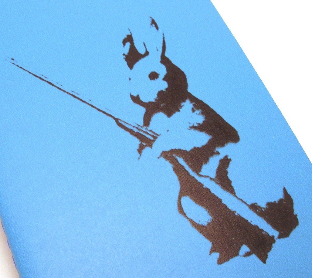 Notebook - Rifle Rabbit lined notebook - ecofriendly - 3.5 x 5.5 inches - moleskine-size