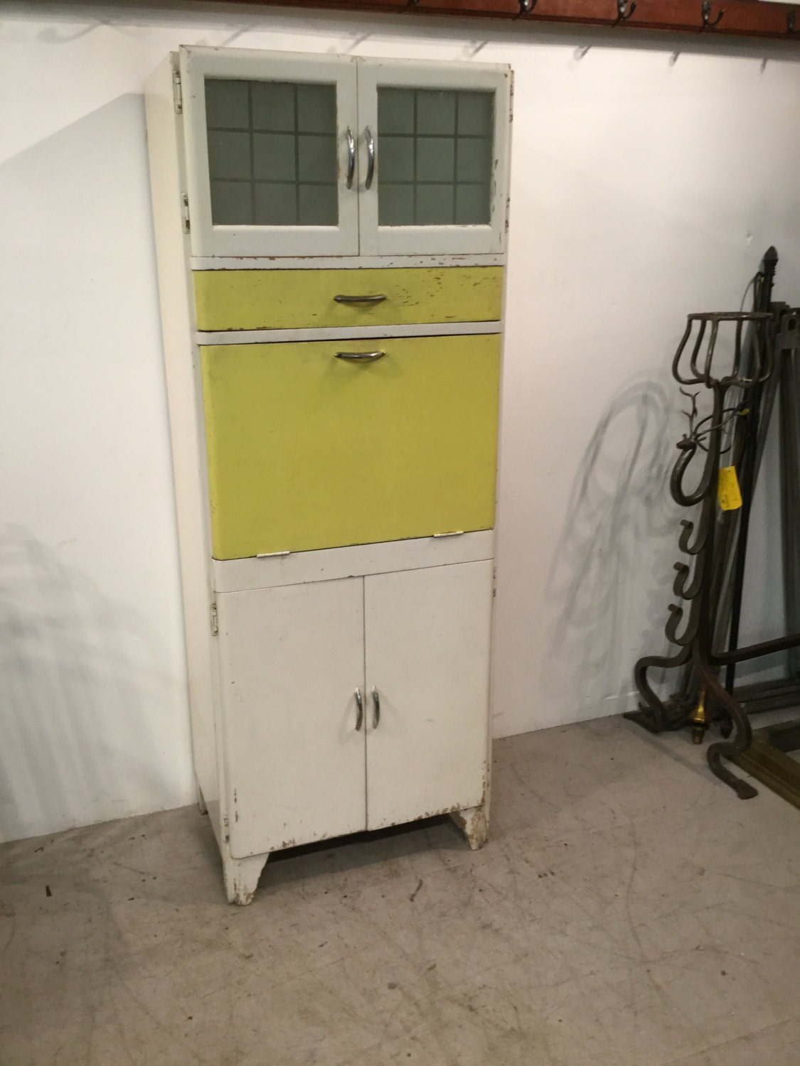Vintage Solid Wooden Tall Kitchen Unit  1940s