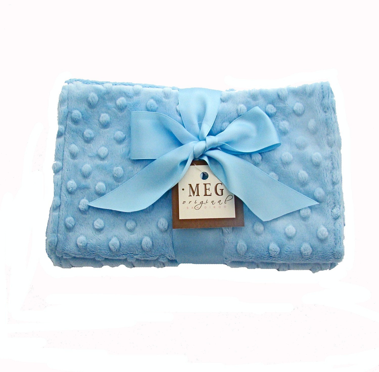 Luxurious Blue Baby Boy Minky Burp Cloth Set-SALE