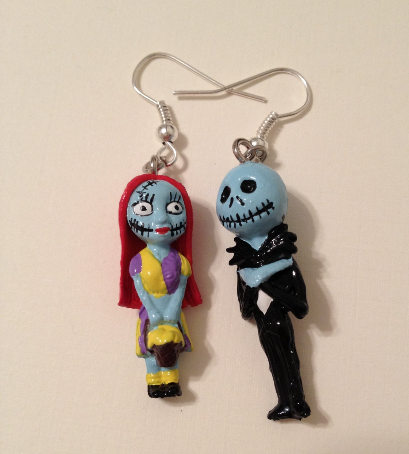 Nightmare Before Christmas Earrings by CheshireCrafter on Etsy