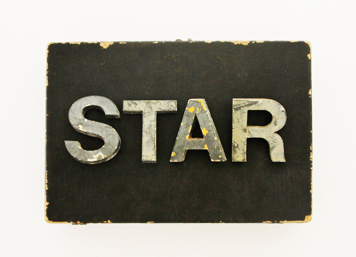 STAR - Vintage Letters - Vintage Marquee Letters - Large - Sign - Home Decor - Industrial - Metal - Supplies - NIght - becaruns