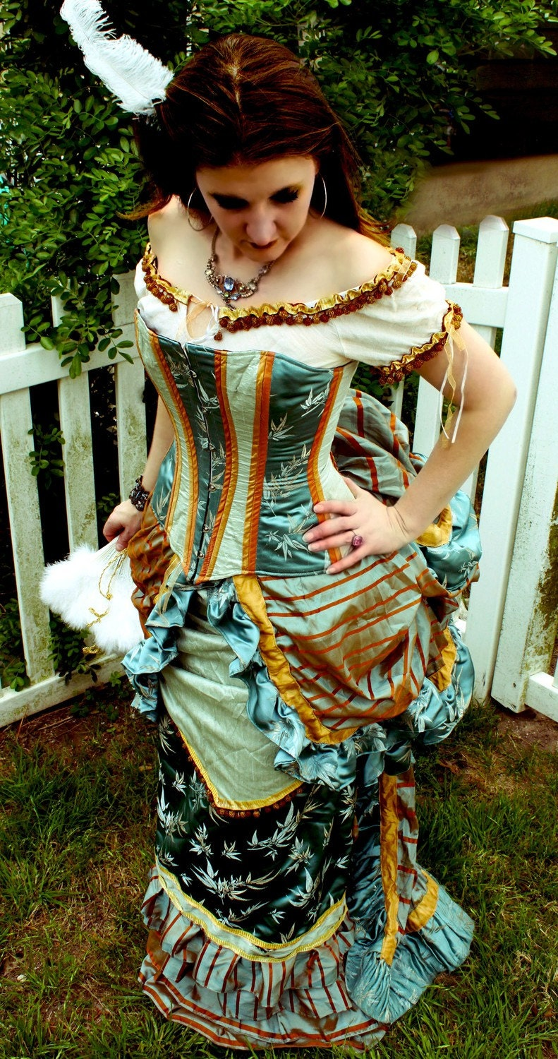1880s Wild West Victorian Dress and Corset