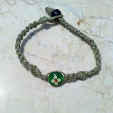 Flower Power Hemp Bracelet