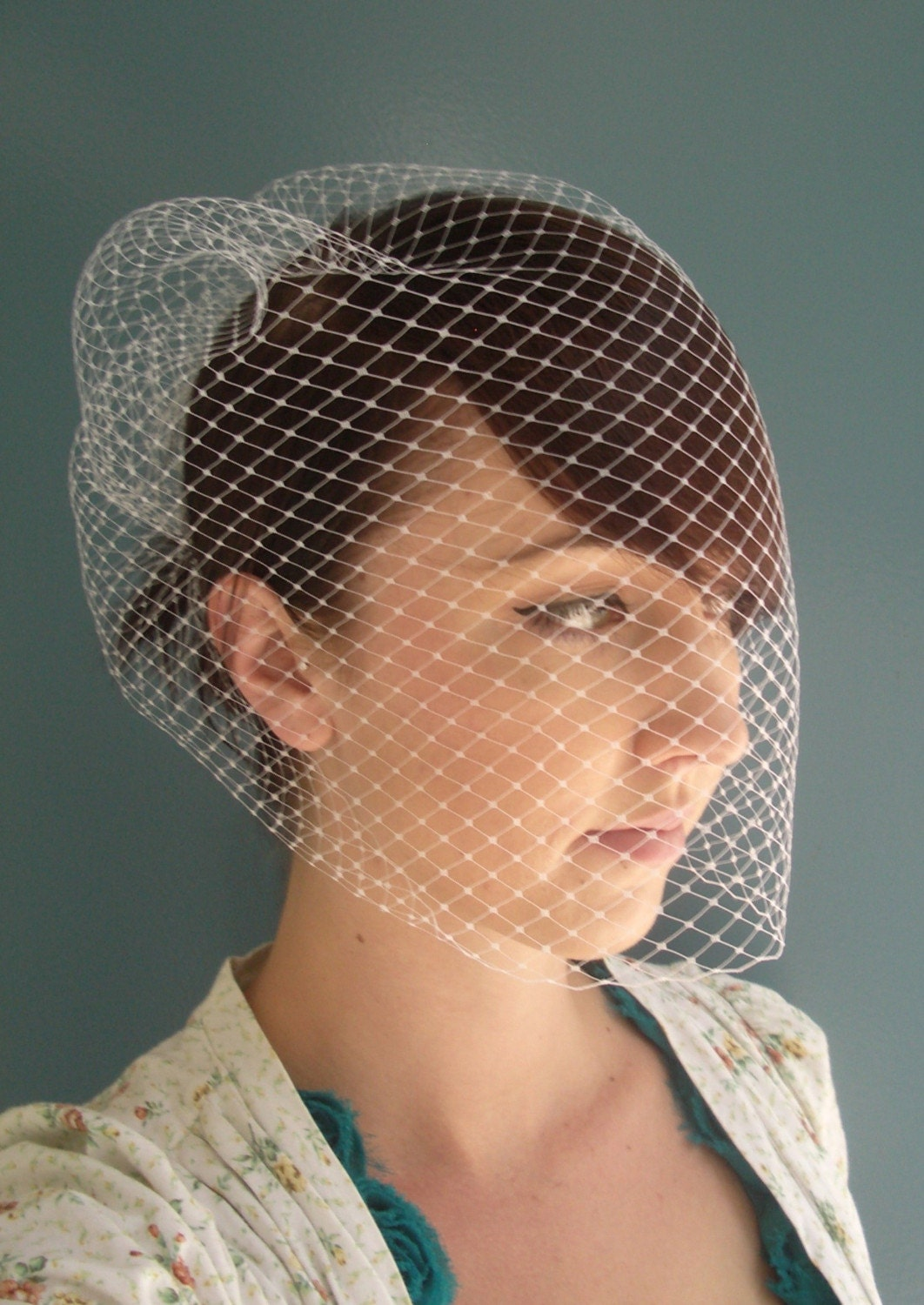 Birdcage Veil 18 inch - Bridal or Special Occasion by TessaKim on Etsy from etsy.com