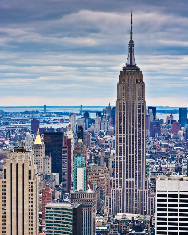 new york skyline empire state building from 30 by. Black Bedroom Furniture Sets. Home Design Ideas