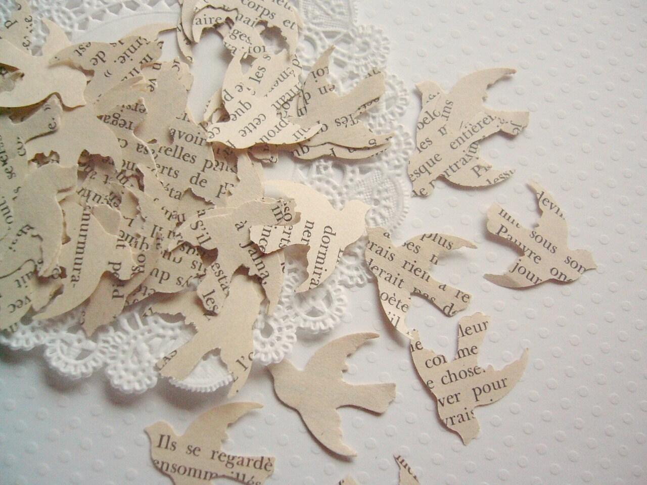 Vintage French Love Bird Confetti