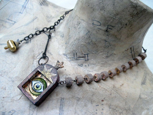 The Goddess Eye. Eye Shrine Assemblage Choker.