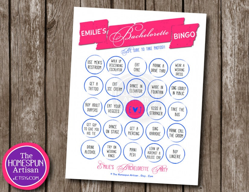 Scavenger hunt personalized printable girls night out 8 5x11