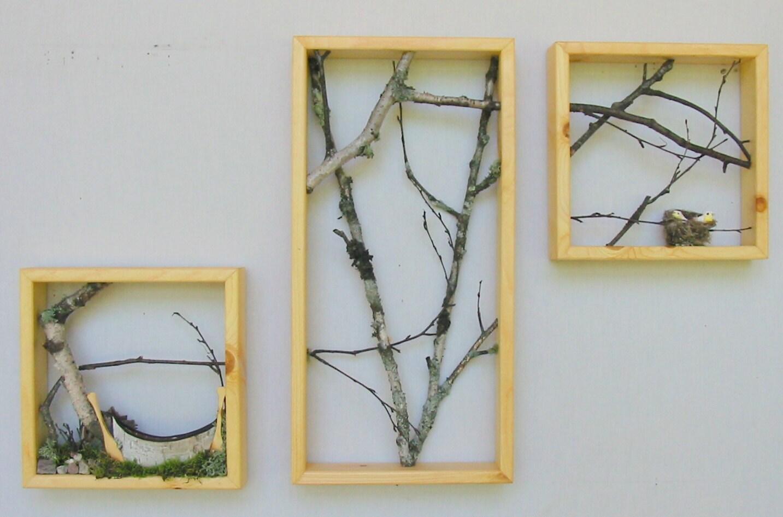 Панно из веток деревьев своими руками