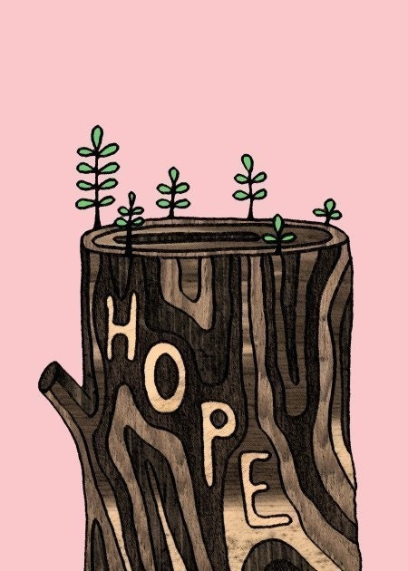 Hope For Growth - 5x7 Art Print