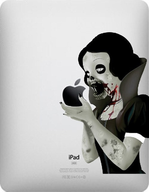 ZOMBIE PRINCESS iPad Decal - vinyl - sticker