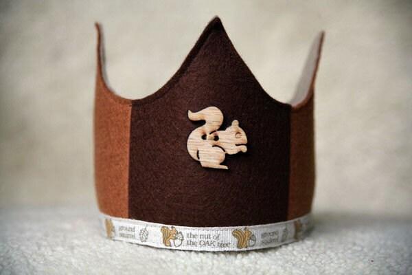 Wool Felt Crown - Brown Squirrel