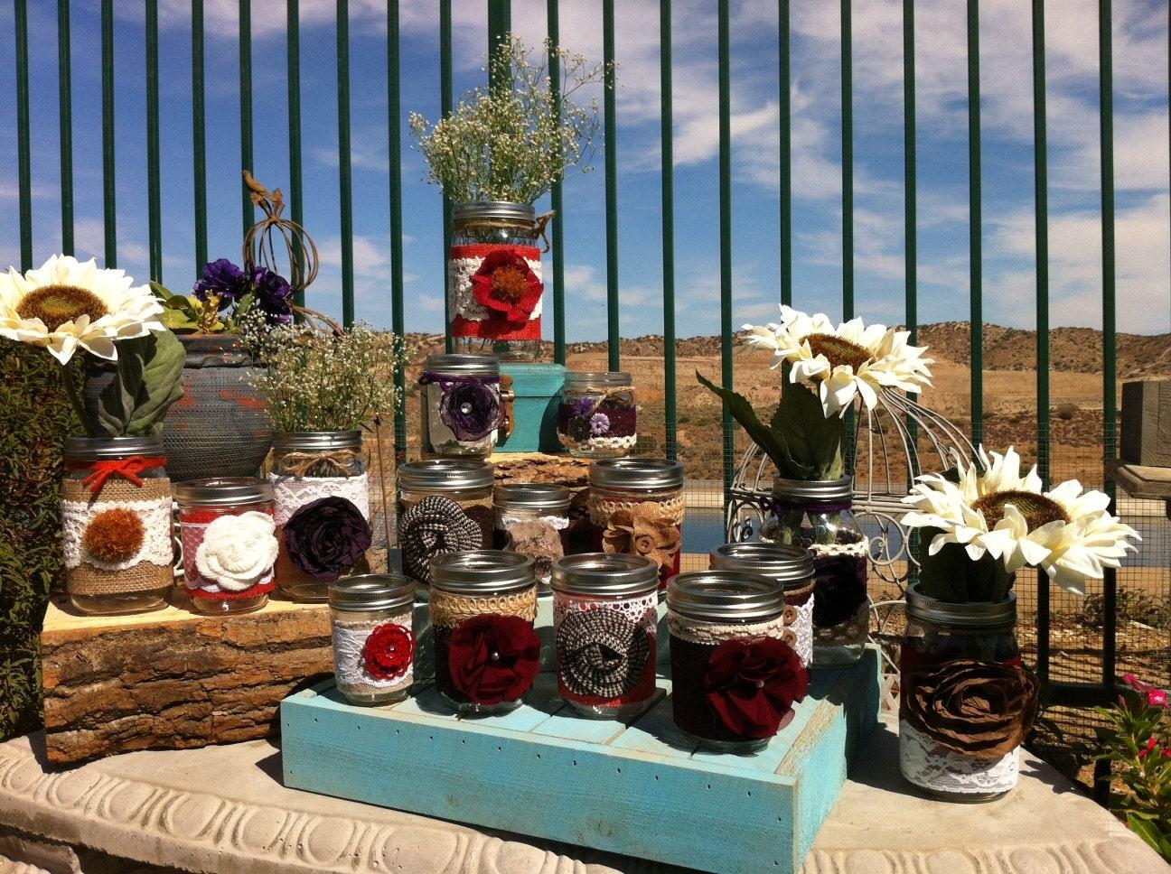 Fall wedding decor centerpieces autumn mason jars