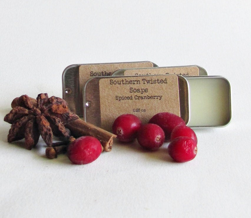 Spiced Cranberry Solid Perfume - Fall Fragrance - SouthernTwistedSoaps
