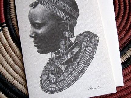 Masai Bride card