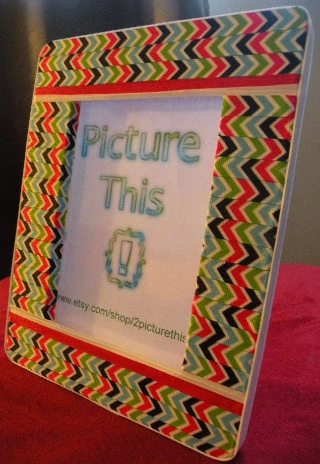 You Zig I'll Zag Ribbon Picture Frame