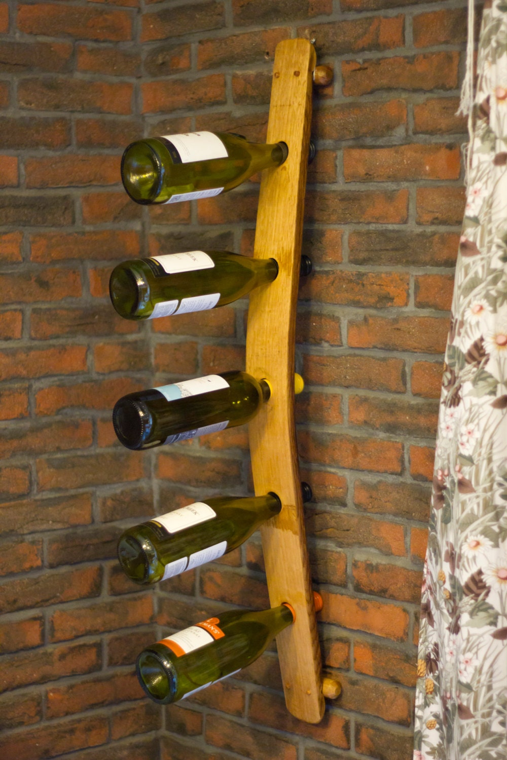 Reclaimed Rustic English Oak Wine Barrel Stave Wine Rack by The Fine Wooden Article Company