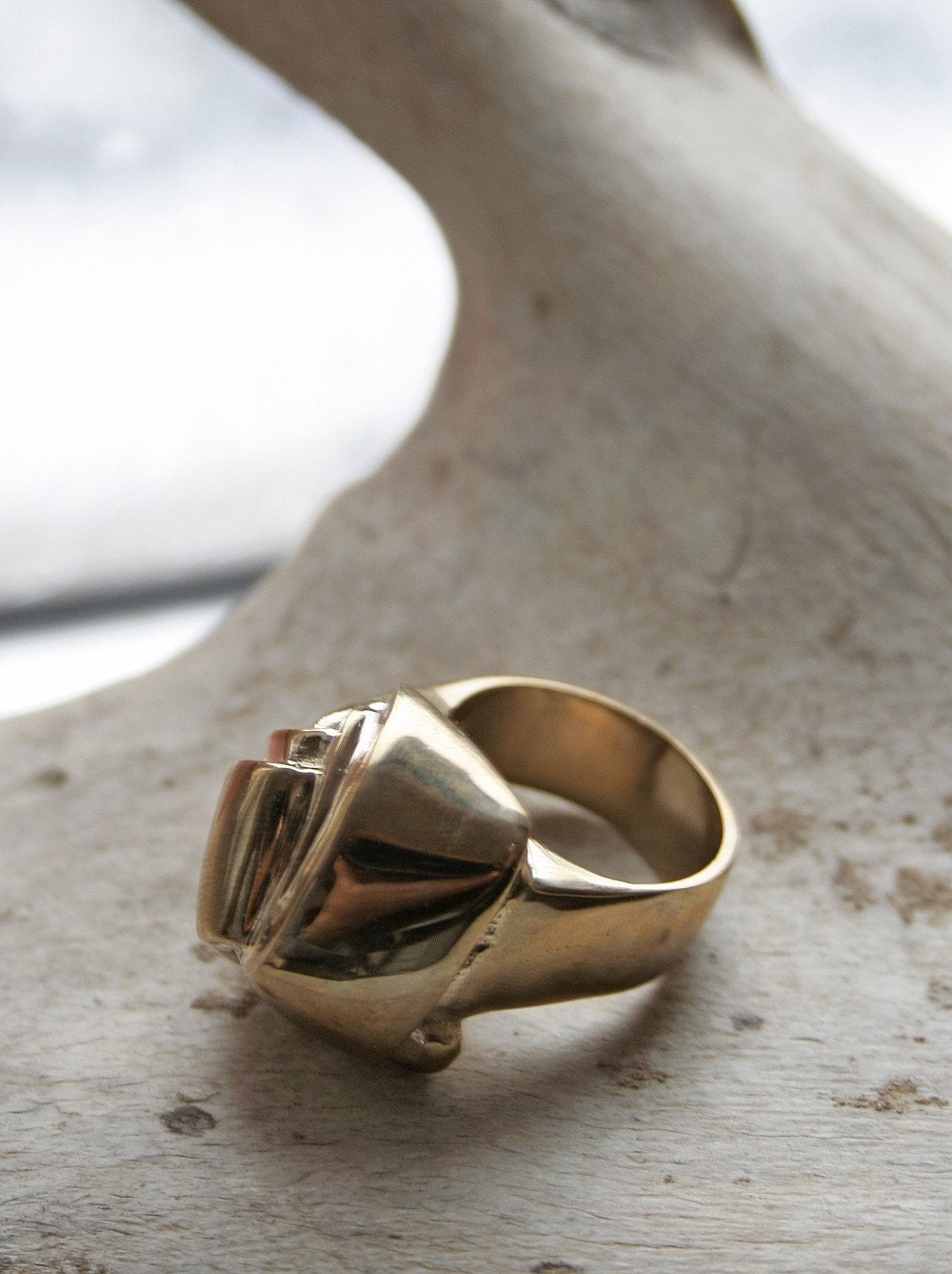 Big Knot ring, Gold