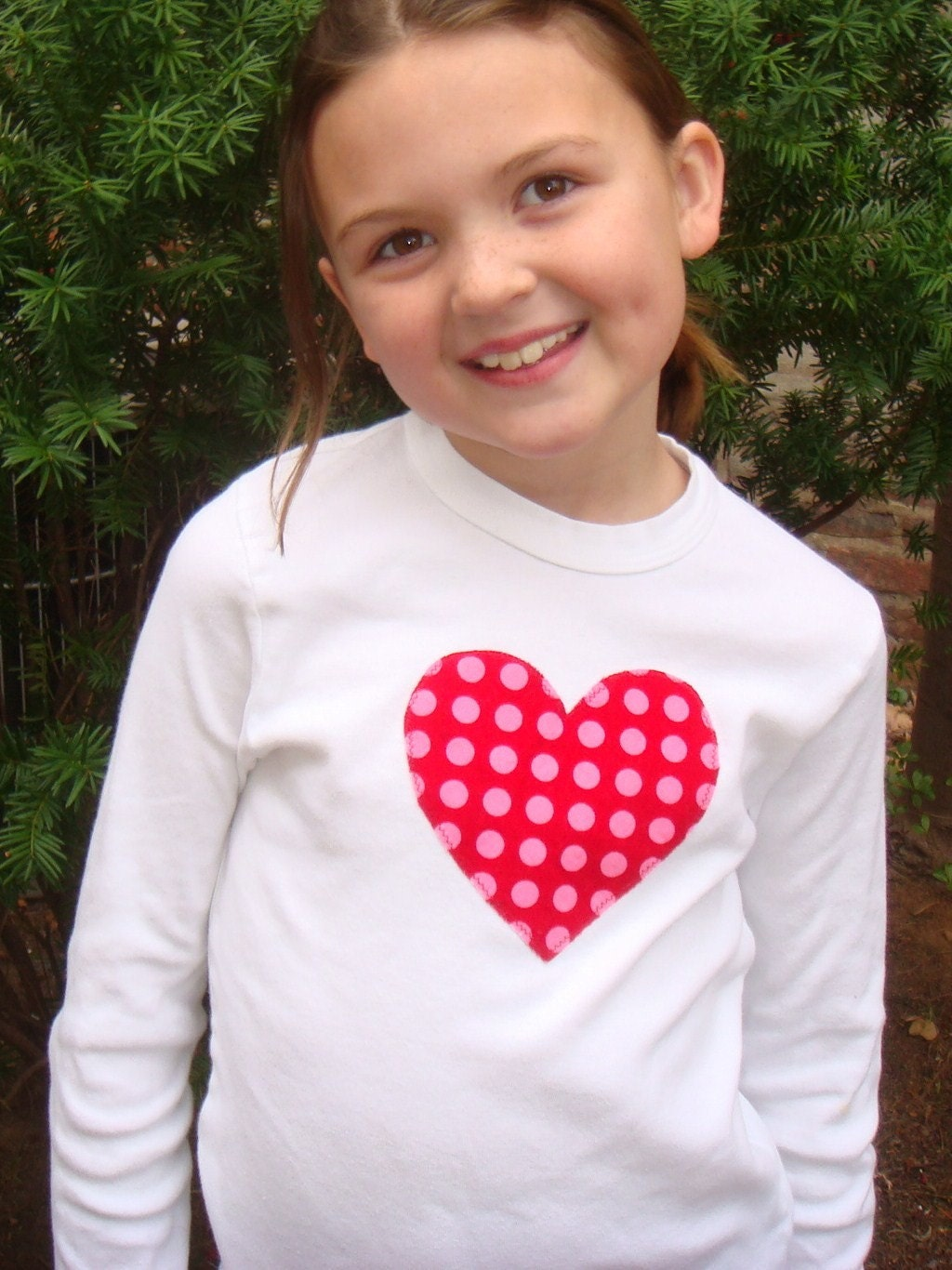 Heart Applique T-Shirt for Girls