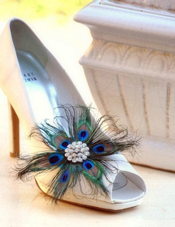 Потрясающие Цветочный павлин Чистка клипы Couture Невеста Люкс невесты Летний Женский Большой Rhinestone Steampunk рокабилли Sofisticata