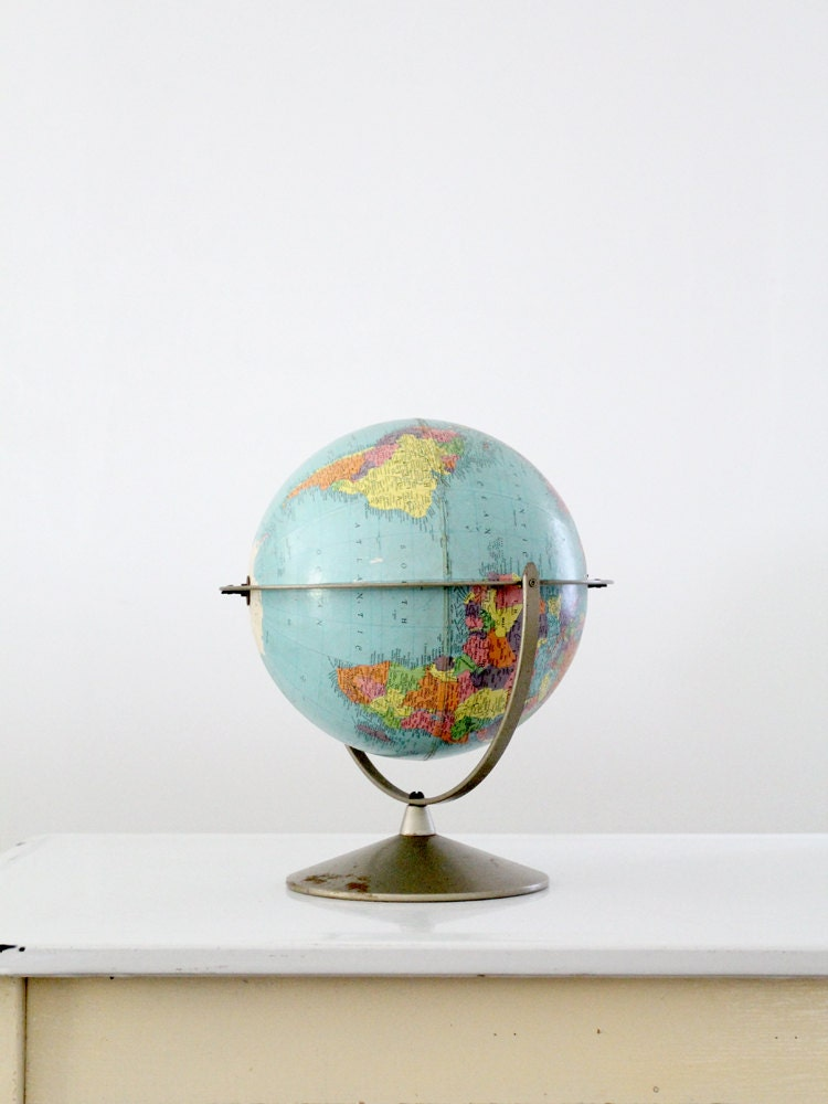 Mid Century Globe / Vintage Replogle World Globe - 86home