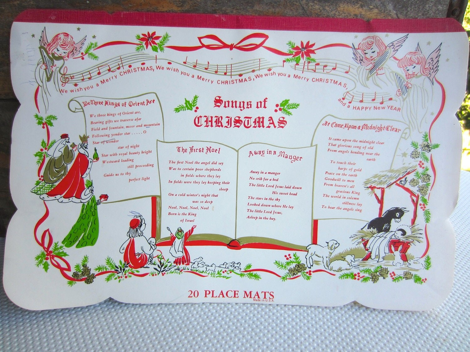 custom paper placemats