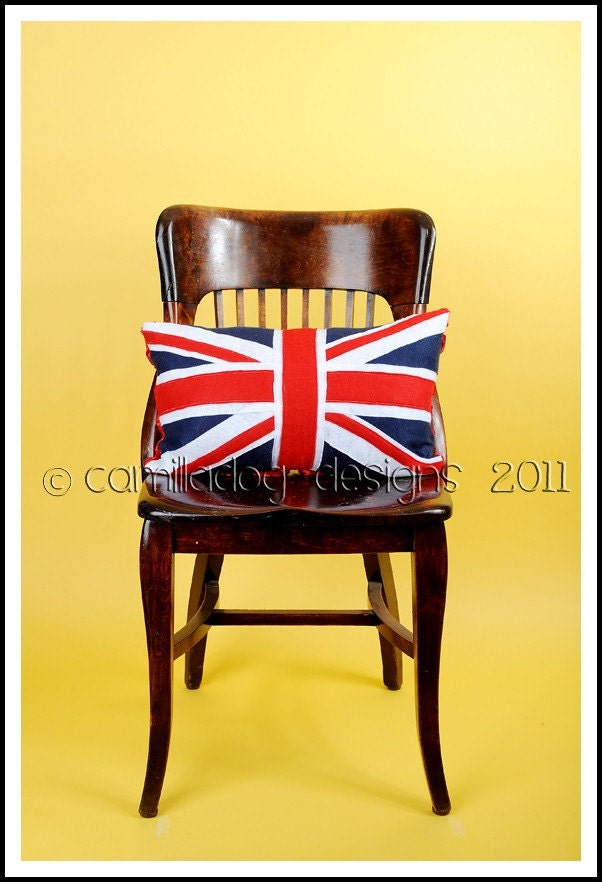 Union Jack Flag Pillow...flag of the united kingdom england wales