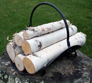 White Birch Log set for Fireplace - WilsonEvergreens