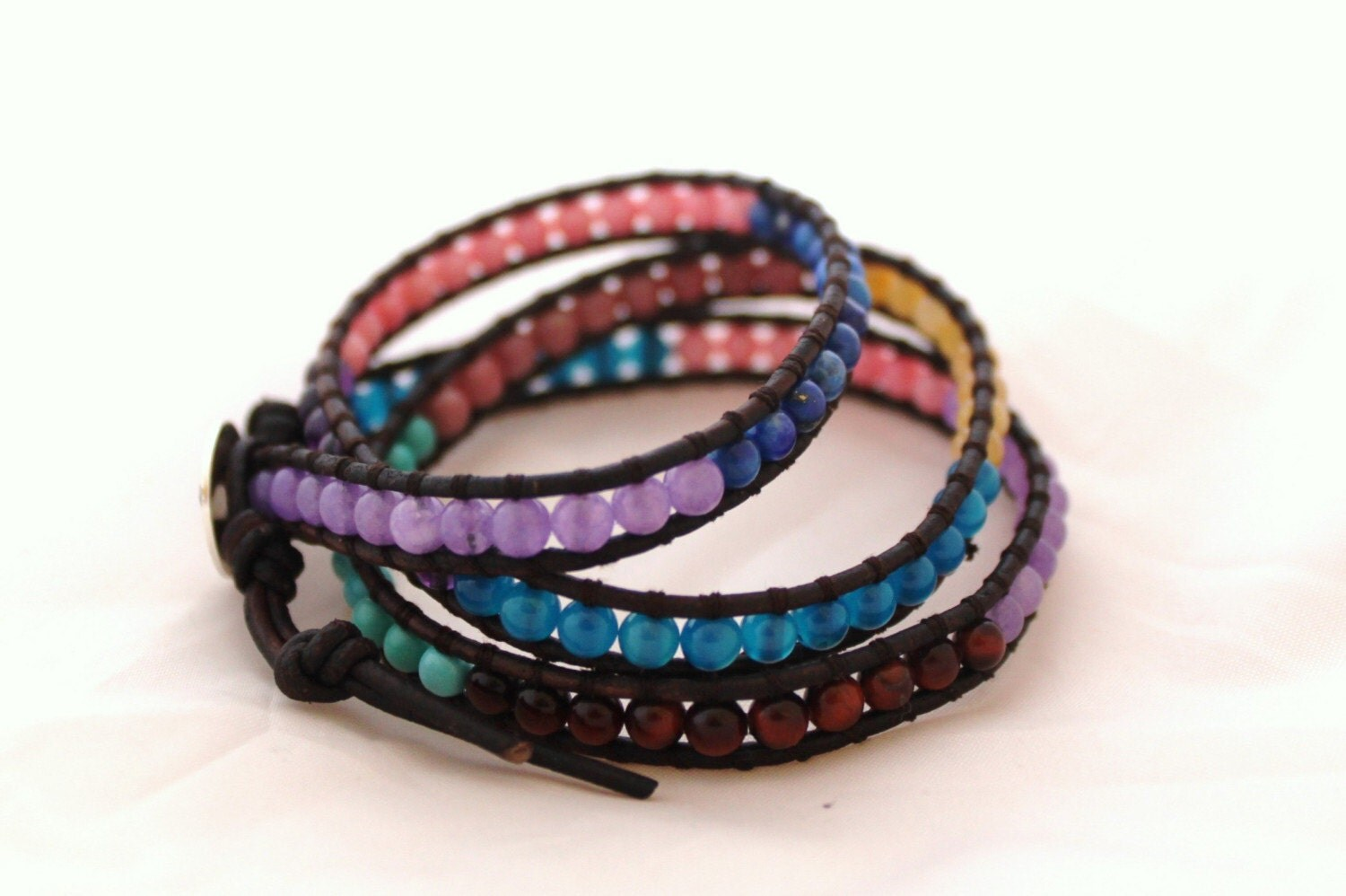 Springtime Multicolored Leather Wrap