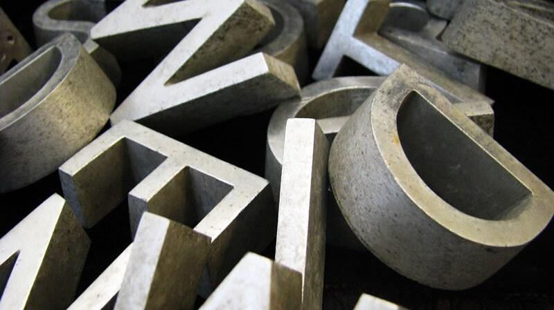 etsy textmessages sale vintage aluminum letters