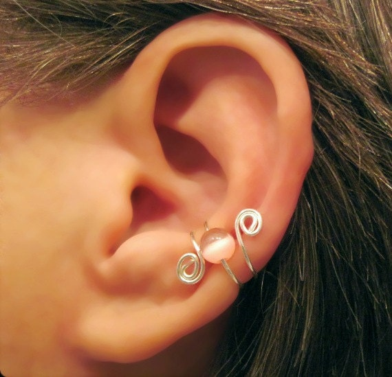 Items Similar To No Piercing Quot Cat S Eye Swirl Quot Cartilage