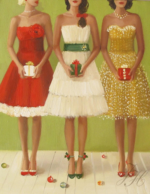 Christmas Belles- Open Edition Print