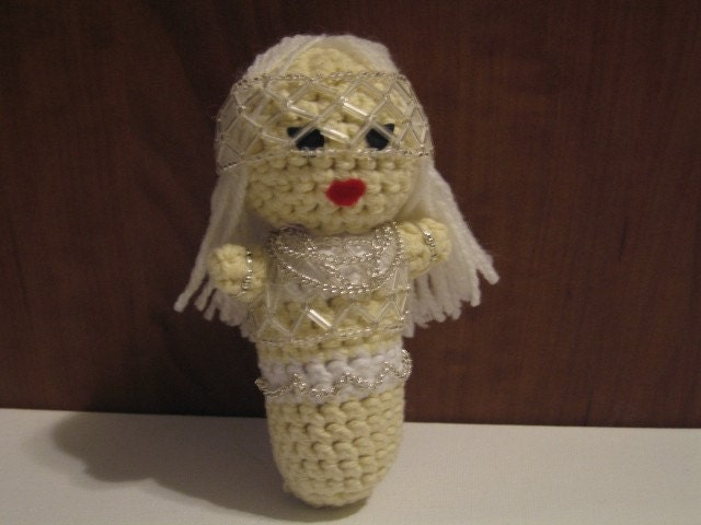 Crocheted BAD ROMANCE Lady Gaga doll