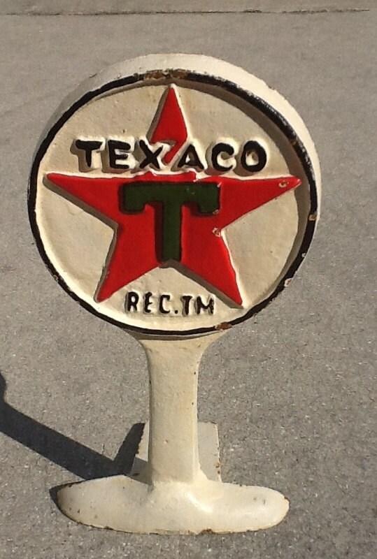 Vintage Cast Iron Texaco Door Stop By Merishcasvintage On Etsy