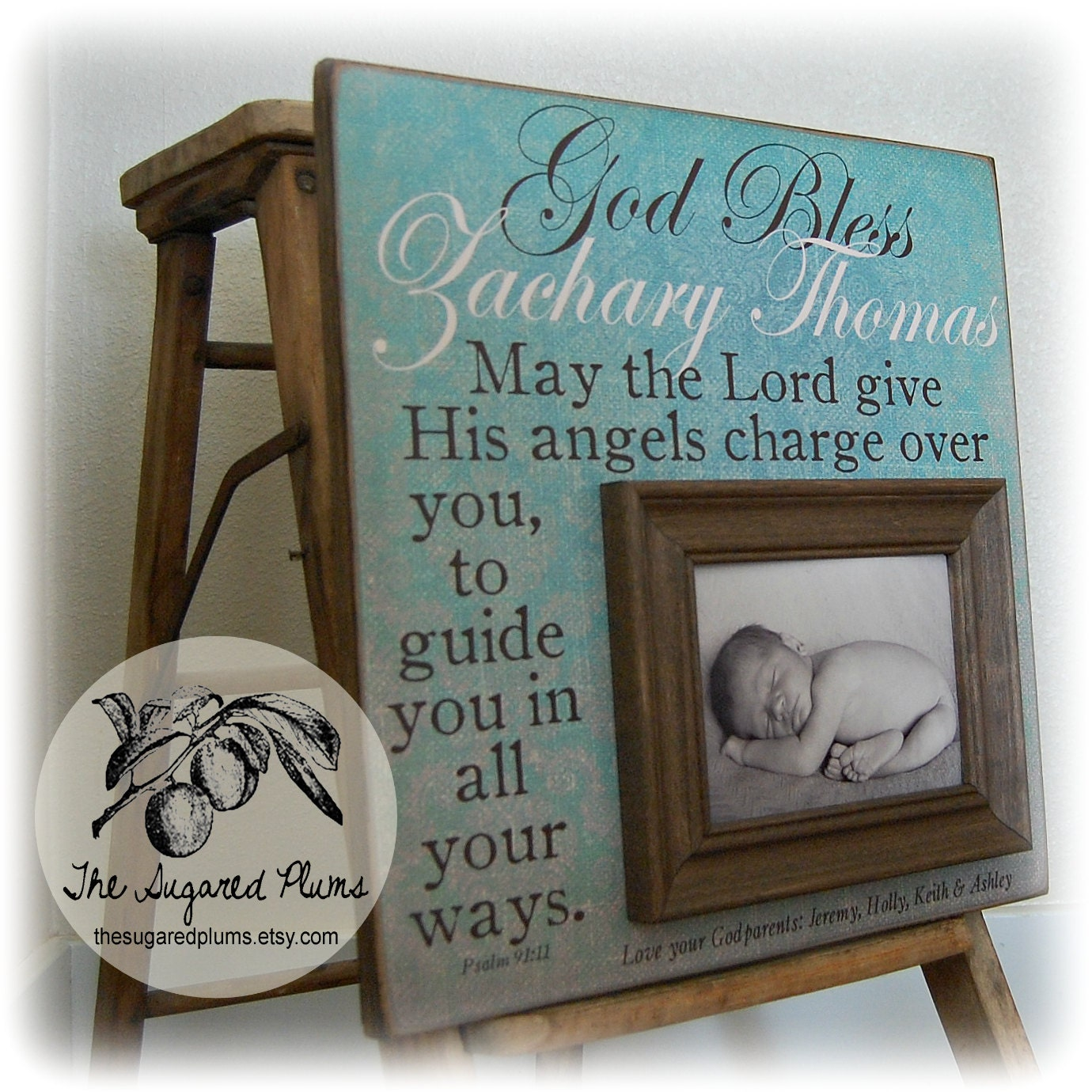 Wedding Gifts For Godparents : Baptism Gift, Baptism Gift from Godparent, Baptism Gifts For Godchild ...