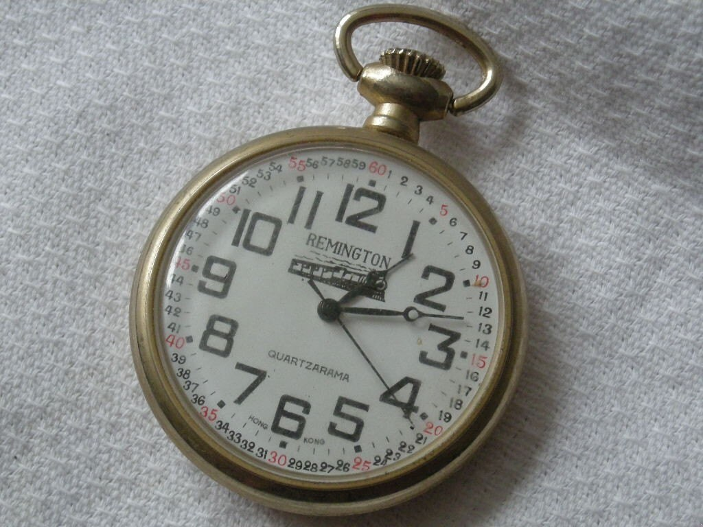 vintage remington pocketwatch by whitebirdartiques