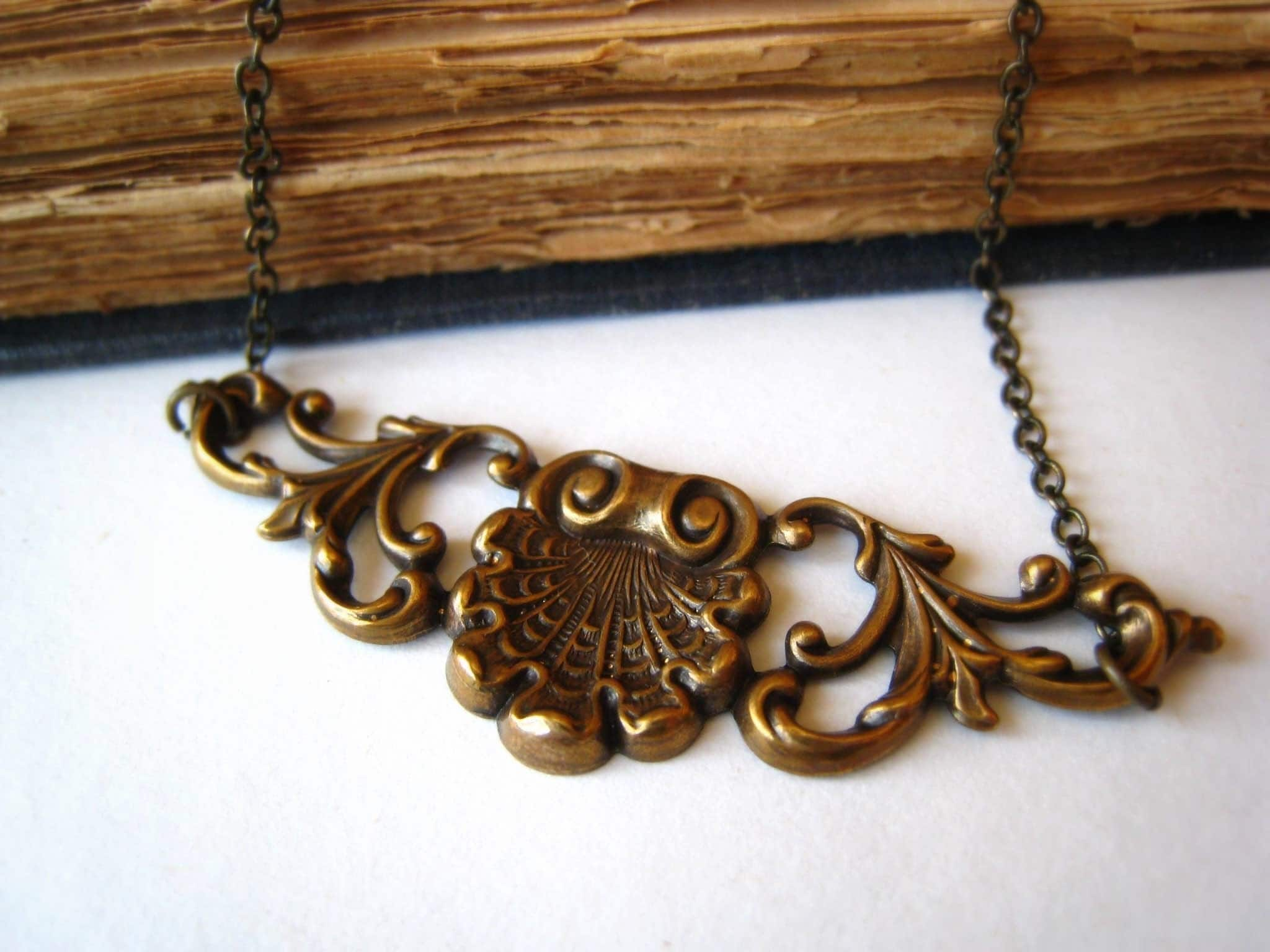 Little Art Nouveau Antiqued Brass Filigree by dreamyvintage from etsy.com