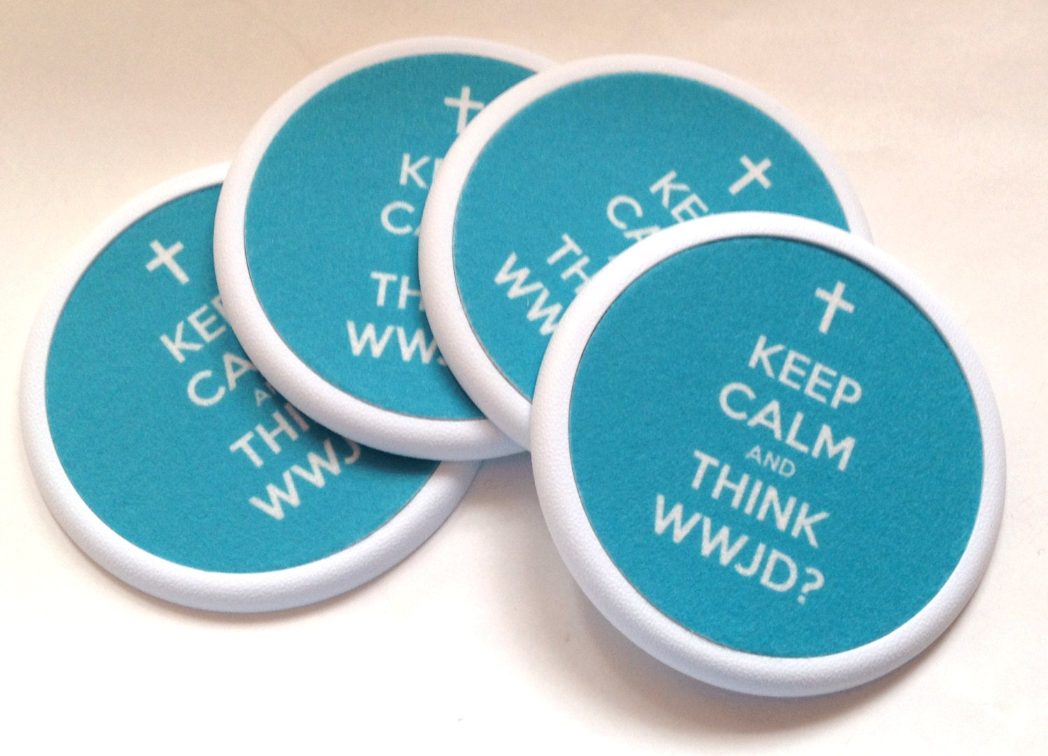 Absorbent drink coaster keep calm and think by spreadblessings - Drink coasters absorbent ...