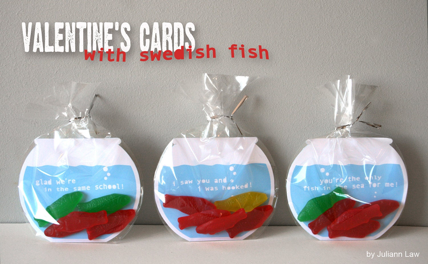printable valentines cards swedish fish bowls - Home Made Valentines