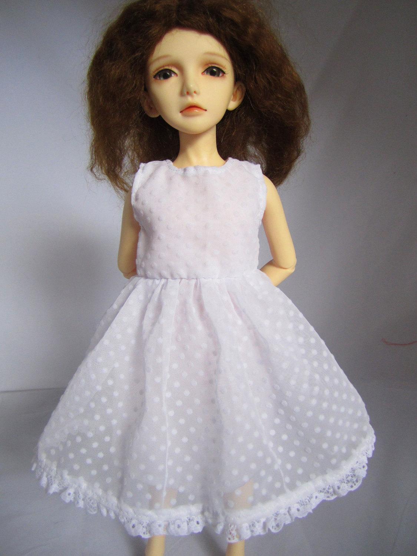 White Angel dress for BJD MSD dollfie doll OOAK Soulkid Narae Unoa Minifee