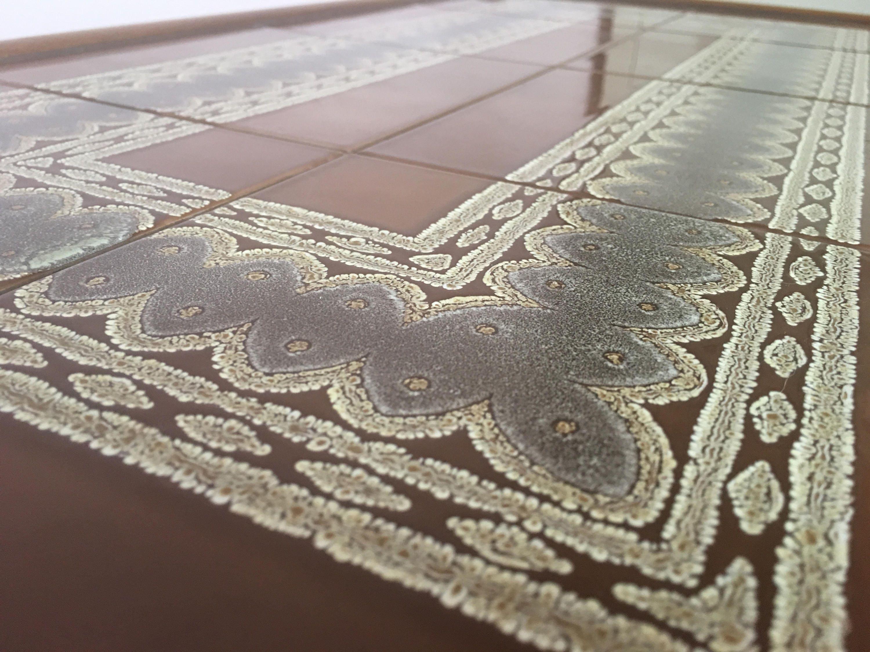 Retro Tiled Coffee Table  Midcentury Vintage Teak