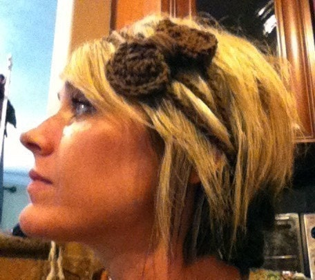 Brown Bow Headband