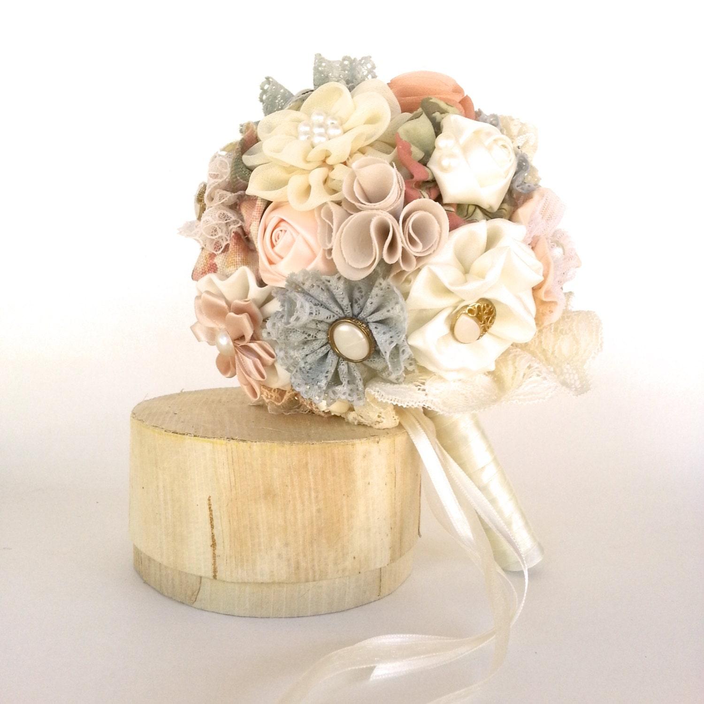 Bridal Bouquet Materials : Rustic fabric bouquetbridal bouquet bridesmaid by mysecretface