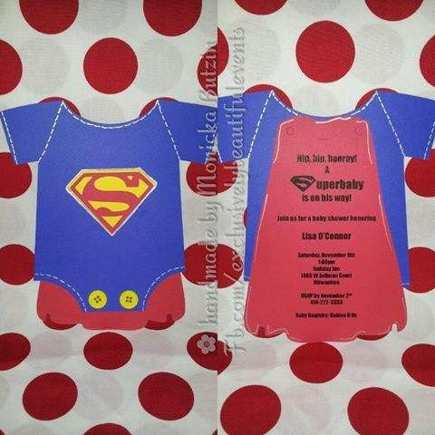 Superman Baby Shower Invitations and get inspiration to create nice invitation ideas