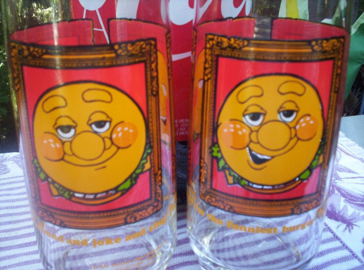 SALE 1979 Burger King Thing Glasses.....Set of 2