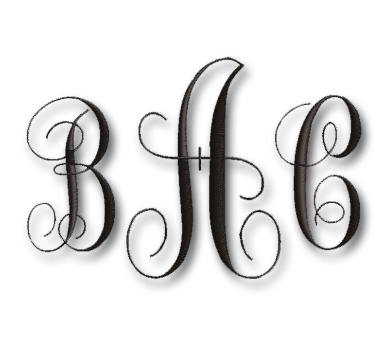 FREE MONOGRAM LETTERS EMBROIDERY