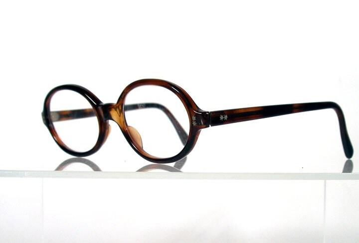 Vintage 1960s SPEX Oval Tortoise Eyeglass Frames Made in France