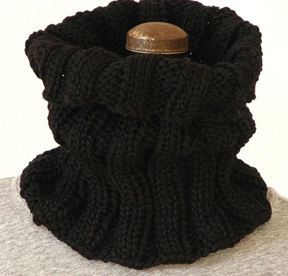 Lã preta Cowl